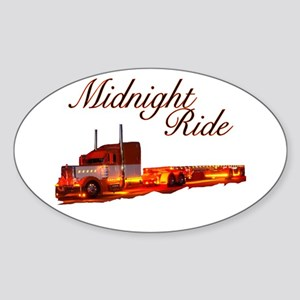 Midnight Ride Oval Sticker